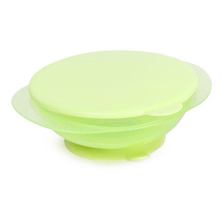 Тарелка Baby Go с присоской Зеленая D2-0211