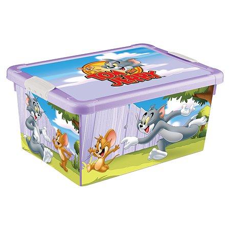 Ящик Пластишка Tom and Jerry универсальный с аппликацией Сиреневый