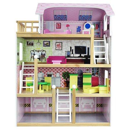 Дом для кукол Ocie с комплектом мебели OC-DH-003 80 см