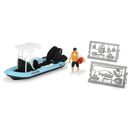 Лодка Dickie PlayLife рыбацкая с фигуркой и аксессуарами 3833004