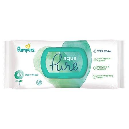 Салфетки влажные Pampers Aqua Pure Single 48шт