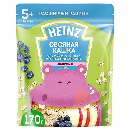 Каша Heinz Лакомая овсяная яблоко-черника-черная смородина 170г с 5месяцев