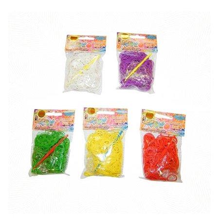 Набор для плетения браслетов LOOM TWISTER из ароматизированных резинок  (красный, зеленый, желтый, фиолетовый, белый)