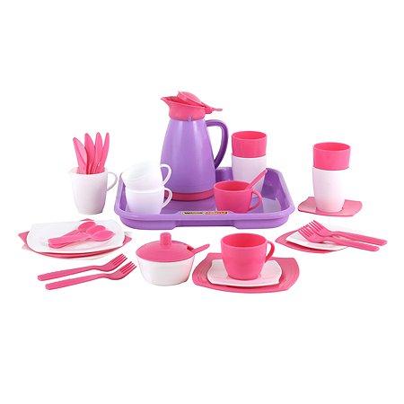 Набор посуды Полесье Алиса с подносом на 4 персоны (Pretty Pink)