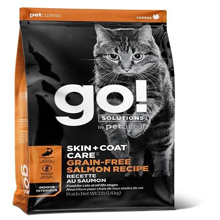 Корм для котят и кошек GO с лососем 1.36кг