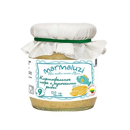 Пюре Marmaluzi картофель-рыба 125г с 9месяцев