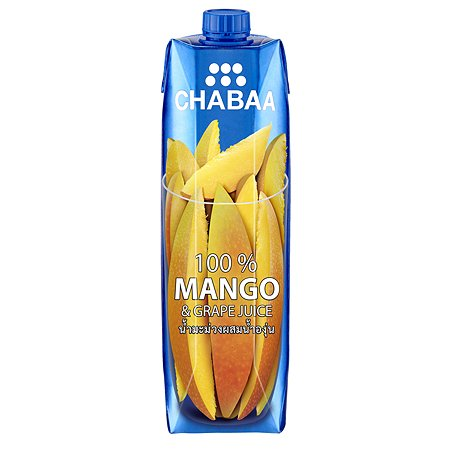 Сок Chabaa 100% манго-виноград 1л