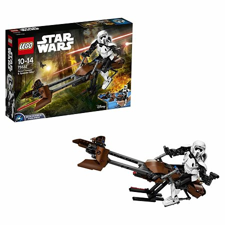 Конструктор LEGO Constraction Star Wars Штурмовик-разведчик на спидере (75532)