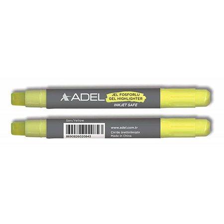 Текстовыделитель Adel механический гелевый желтый