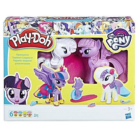 Набор игровой Play-Doh Твайлайт и Рарити B9717EU4