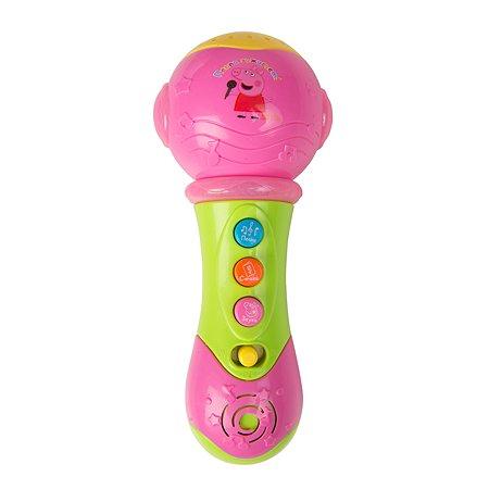 Игрушка Свинка Пеппа Pig Музыкальный микрофон с проектором