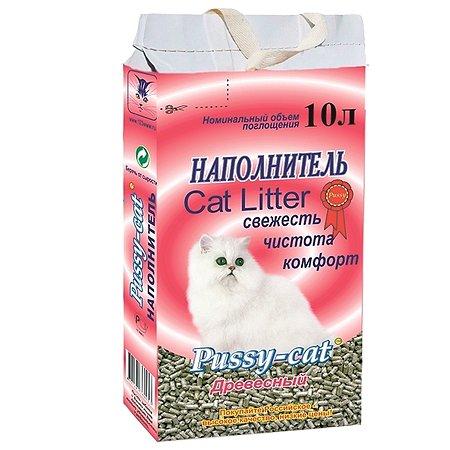 Наполнитель для кошек Pussy Cat древесный 10 л