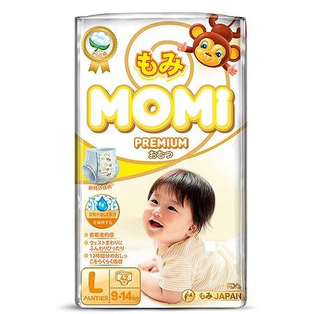 Подгузники-трусики Momi Premium L 9-14кг 42шт
