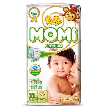 Подгузники-трусики Momi Premium XL 12-20кг 36шт