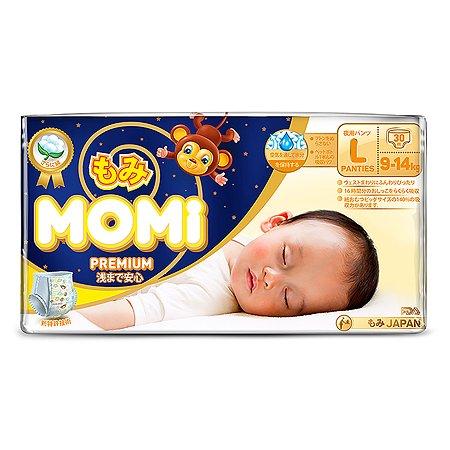 Подгузники-трусики Momi Premium Night L 9-14кг 30шт