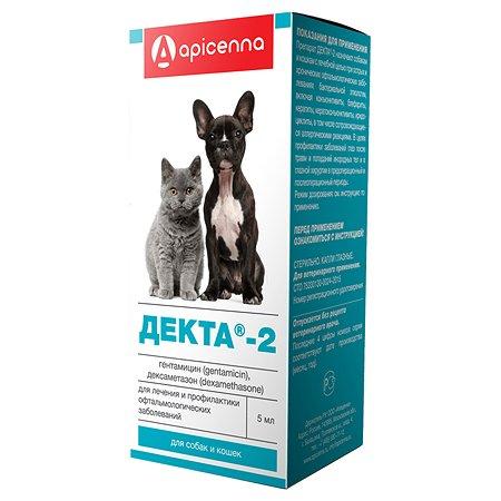 Капли глазные для кошек и собак Apicenna Декта-2 5мл