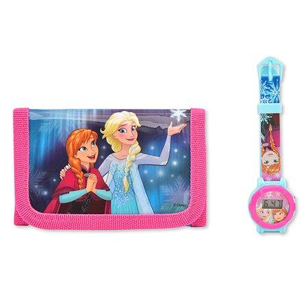 Часы Disney Frozen наручные +кошелёк FR35134