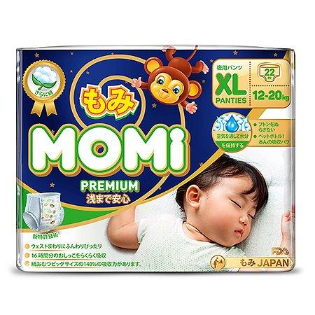 Подгузники-трусики Momi Premium Night XL 12-20кг 22шт