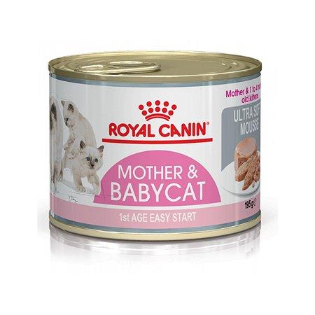 Корм влажный для котят ROYAL CANIN Mother Babycat 195г мусс