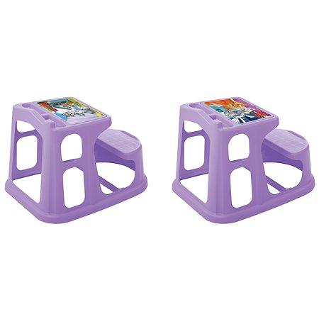 Стол-парта Пластишка Tom and Jerry детская с аппликацией Сиреневая в ассортименте