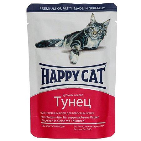 Корм влажный для кошек Happy Cat 100г желе тунец пауч