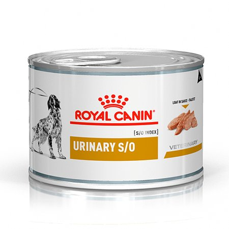 Корм для собак ROYAL CANIN Urinary S/O Canine при мочекаменной болезни консервированный 0.2кг