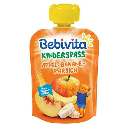 Пюре Bebivita яблоко-банан-персик 90г с 6месяцев