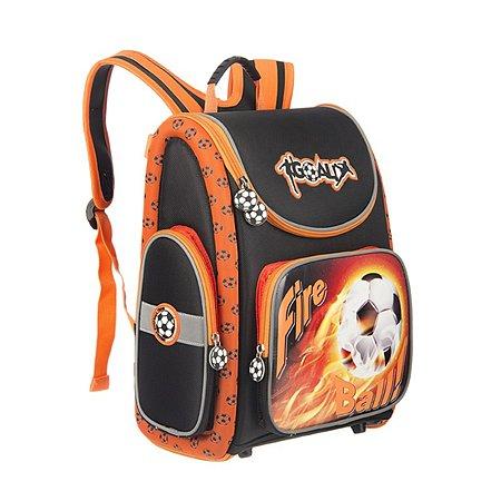 Ранец Grizzly Футбол (черный-оранжевый)