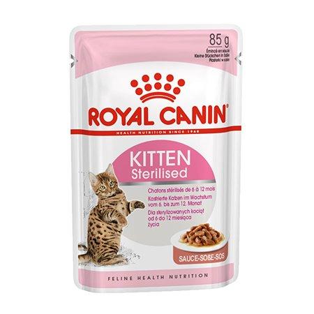 Корм влажный для котят ROYAL CANIN Kitten Sterilised 85г кусочки в соусе стерилизованных