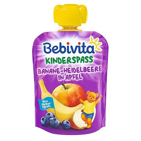 Пюре Bebivita яблоко-банан-черника 90г с 6месяцев