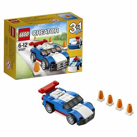 Конструктор LEGO Creator Синий гоночный автомобиль (31027)