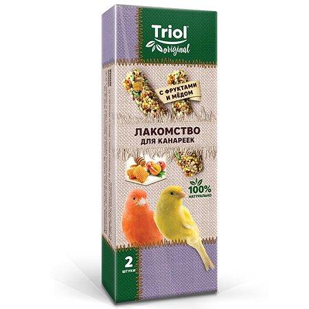 Лакомство для канареек Triol Original с фруктами и мёдом 2шт 55г