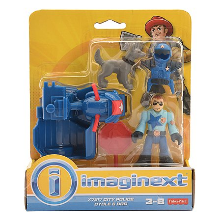 Набор фигурок IMAGINEXT City Police Cycle & Dog (X7617)
