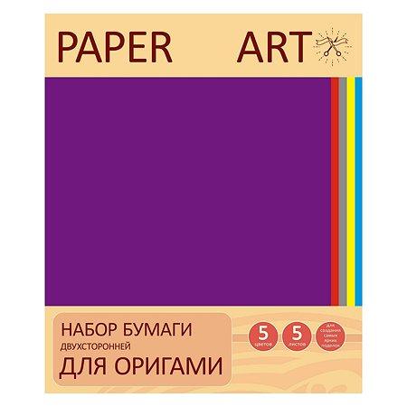 Бумага для оригами Unnika land (двухсторонняя) 25л. 5цв.