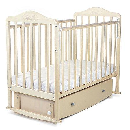 Кровать Наша Мама Джулия  с попер.маятником и ящиком цв.береза