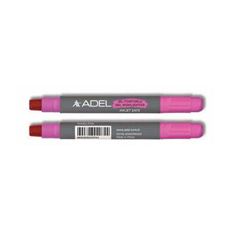 Текстовыделитель Adel механический гелевый розовый
