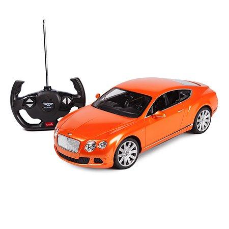 Машинка радиоуправляемая Rastar BentleyContinental GT1:14 оранжевая