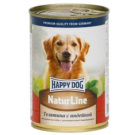 Корм для собак Happy Dog Natur Line телятина-индейка консервированный 400г