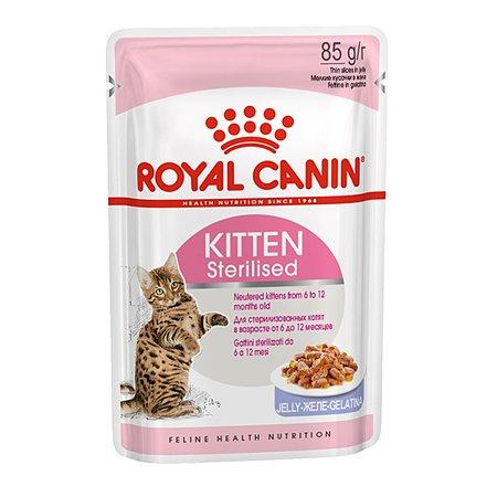 Корм влажный для котят ROYAL CANIN Kitten Sterilised 85г кусочки в желе стерилизованных
