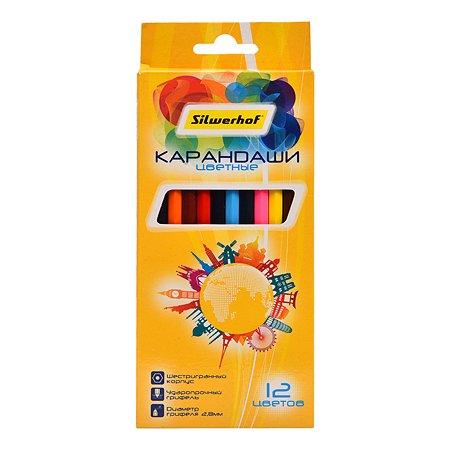 Карандаши цветные Silwerhof Солнечная коллекция 12цветов 1107916