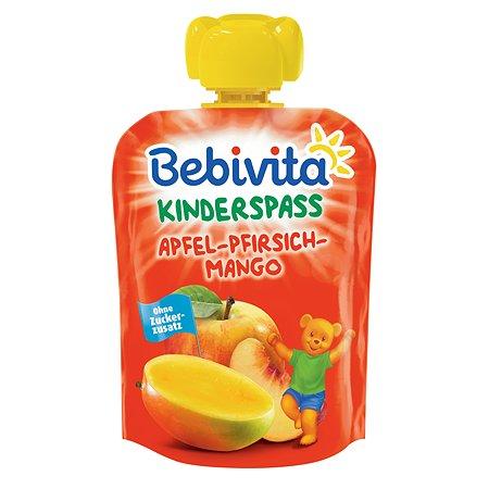Пюре Bebivita яблоко-манго-персик 90г с 6месяцев