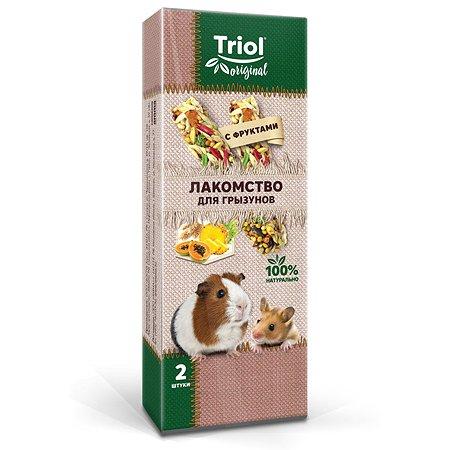 Лакомство для грызунов Triol Original с фруктами 2шт 50г