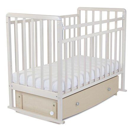 Кровать детская Babyton с маятником и ящиком Береза