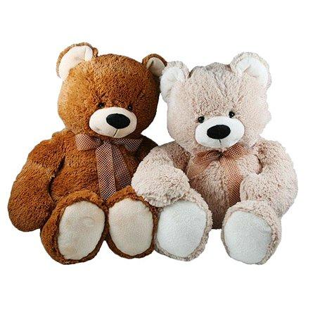Медведь с бантом Девилон 48 см в ассортименте