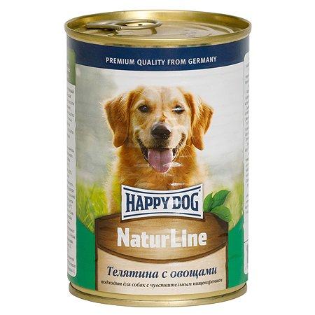 Корм для собак Happy Dog Natur Line телятина-овощи консервированный 400г