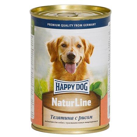 Корм для собак Happy Dog Natur Line телятина-рис консервированный 400г