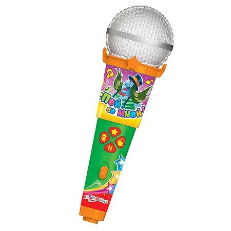 Микрофон Азбукварик Пой со мной Песенки веселых мультяшек