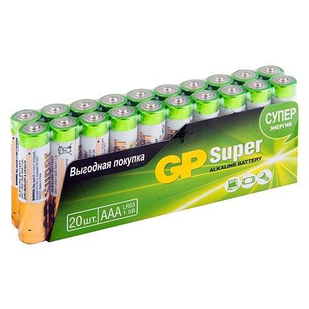 Батарейки GP ААА(LR03) 24А-B20 щелочные 20шт