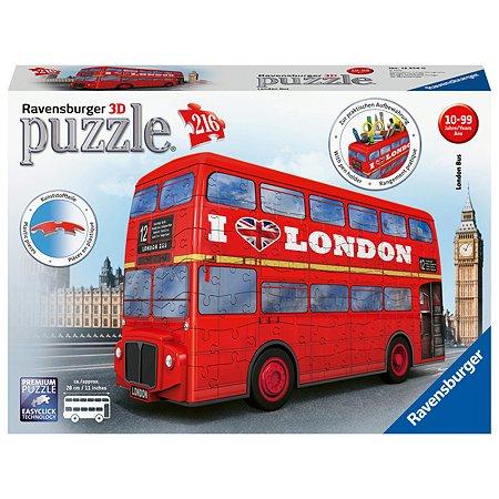Пазл 3D Ravensburger Лондонский автобус 216элементов 12534
