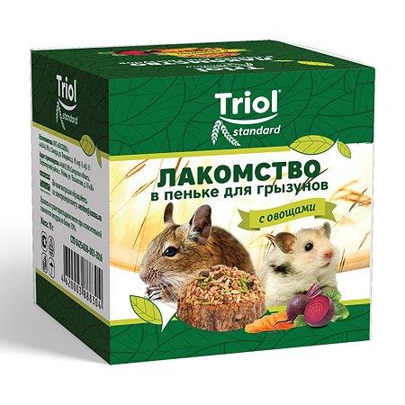 Лакомство для грызунов Triol Standard в пеньке с овощами 70г